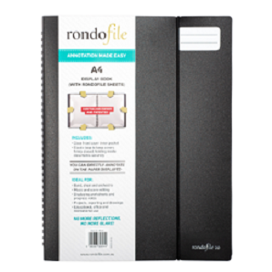 Rondofile (A4) 20 Black Cover (20 sheets)