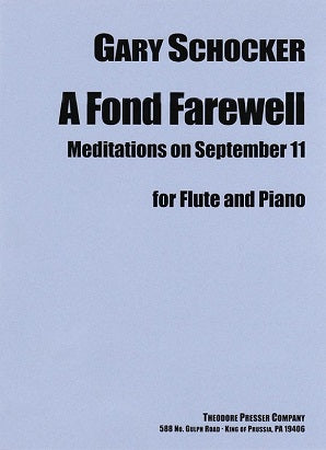 Schocker, G - A Fond Farewell for flute and piano