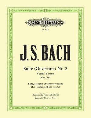 Bach J S - Suite (Overture) No. 2 BWV 1067 (Peters) FL/PNO/CD