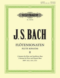 Bach J S - Sonatas Vol 2(Urtext) BWV 1033 - 1035 (Peters) FLT/PNO/CD