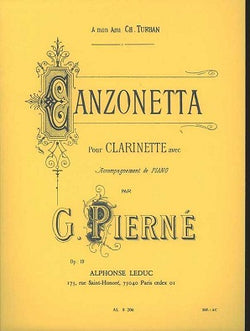 Pierne - Canzonetta Op. 19 for clarinet and piano
