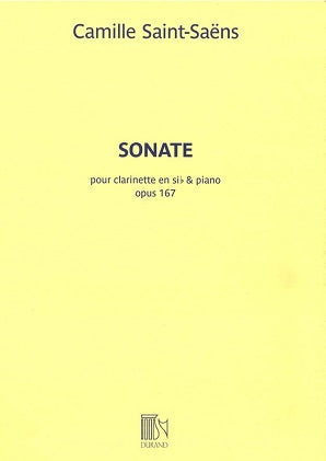 Saint-Saens - Sonata Op. 167 for clarinet and piano
