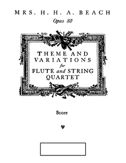 Beach, Amy - Theme and Variations for flute and string quartet (Score Set of Parts)