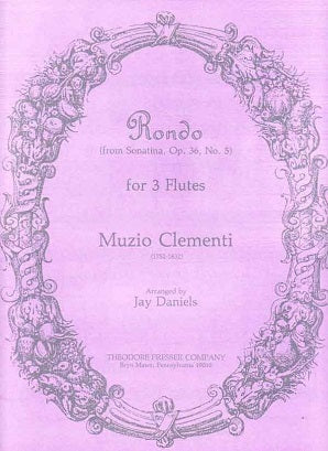 Clementi, Muzio  - Rondo (From Sonatina, Op. 36, No. 5) - for 3 Flutes