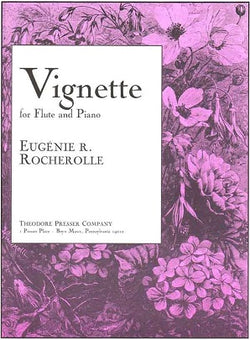Rocherolle, Eugenie  - Vignette For Flute and Piano