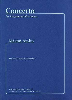 Amlin, Martin - Concerto For Piccolo and Orchestra (Piano Reduction)