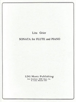 Grier, Lita  - Sonata For Flute and Piano