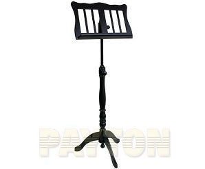 Music Stand - Wooden tripod base Black
