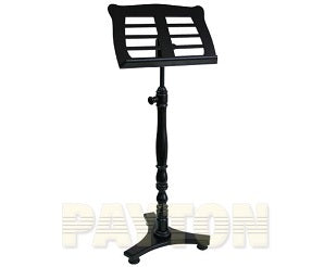 Music Stand - Wooden Low Base Black