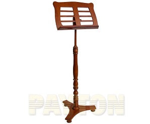 Music Stand - Wooden Low Base Walnut