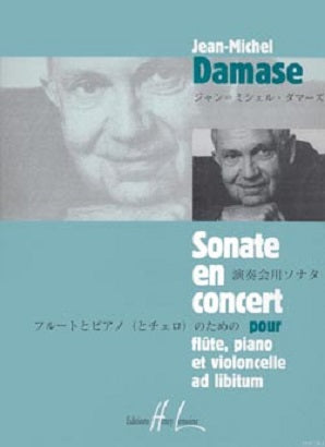 Damase, Jean-Michel - Sonate en concert Op.17 Flute, cello and piano