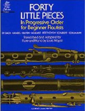Little Pieces 40 for beginner flutists Arr L Moyse
