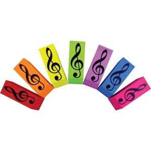 Wedge Eraser Assorted Colours x 4