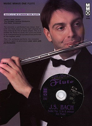 Bach, J.S. - Suite No. 2 for Flute & Orchestra B Minor, BWV10 Flute Play-Along Book/CD Pack