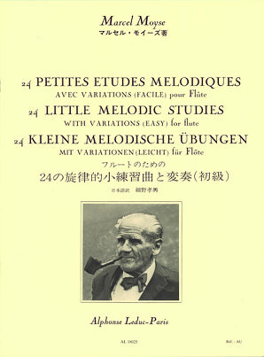 Moyse , M -24 Little Melodic Studies with Variations (easy) for Flute 24 Petites Etudes Melodiques (Leduc)
