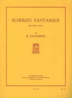Goossens - Scherzo Fantasque for Flute and Piano. Published by Leduc