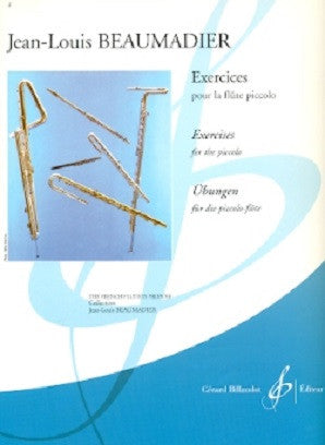 Jean-Louis Beaumadier - Exercises for Piccolo (Billaudot)