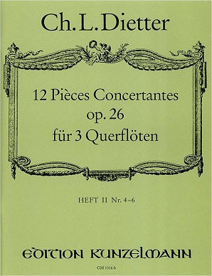 Dieter , Christian Ludwig  12 Pièces Concertantes op. 26 vol 2