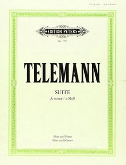 Telemann - Suite In A Minor TWV 55:a2 FLT/PNO/CD (Peters)