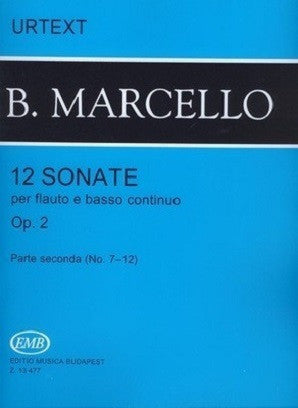 Marcello - 12 Sonatas Op. 2 Vol. 2 for Flute (or Treble Recorder) and Piano (EMB