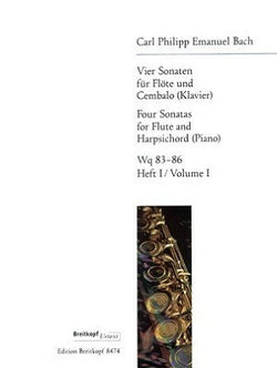 Bach, CPE - 4 Sonatas for Flute and Harpsichord (Piano) Vol. 1 (Breitkopf & Hartel )