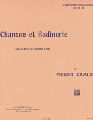 Camus, P - Chanson et Badinerie for Flute and Piano (Alphonse)