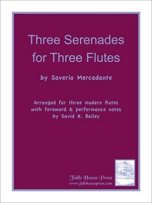 Mercadante - Three Serenades for Three Flutes (Falls House)