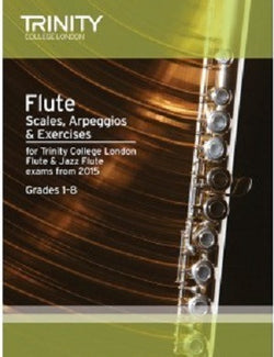 Trinity Flute Scales, Arpeggios & Exercises Grades 1–8 from 2015