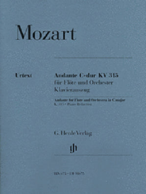 Mozart - Andante for Flute and Orchestra C Major, K. 315 for Flute & Piano Reduction (Henle)