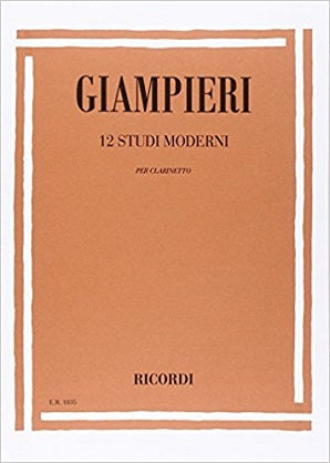 Alamiro Giampieri - 12 Modern Studies for clarinet