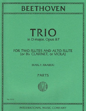 Beethoven - Trio in D major, Op. 87 Two Flutes and Alto Flute (with B? Clarinet and Viola parts)