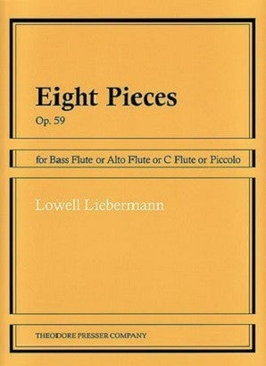Liebermann - Eight Pieces Op. 59 for Bass Flute or Alto Flute or C Flute or Piccolo (Presser)