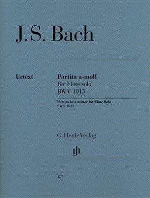 Bach JS - Partita in a minor for Flute Solo BWV 1013 Partita a-moll BWV 1013 für Flöte solo (Henle)