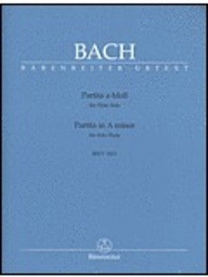 Bach, JS - Partita in A minor BWV 1013 for Solo Flute (Barenreiter)