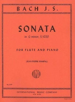 Bach , JS - Sonata in G minor BWV 1020 for Flute and Piano (IMC)