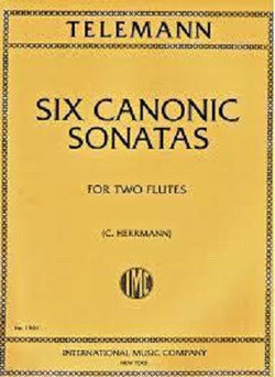 Telemann - Canonic Studies for 2 Flutes
