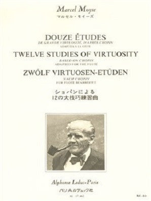 Moyse, Marcel 12 studies of virtuosity for flute (Leduc)