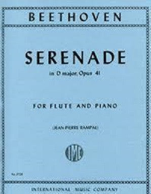 Beethoven - Serenade in D major, Op. 41 for Flute and Piano (IMC)