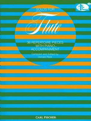 Solos for Flute 36 Repertoire Pieces with Piano Accompaniment Ed D Peck