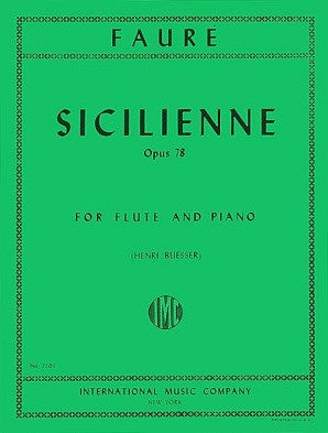 Faure - Sicilienne Op. 78 for Flute and Piano (IMC)