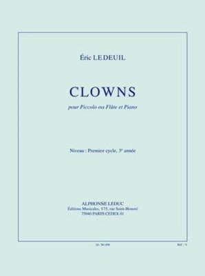 Ledeui, Eric - Clowns for Flute and Piano (Leduc)