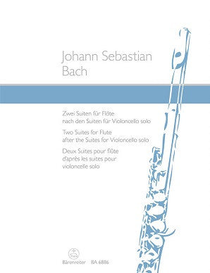 Bach, Johann Sebastian- (arr. Joachim Linckelmann): Two Suites for Flute (after the Suites for Violoncello solo BWV 1007, 1009) (Barenreiter)