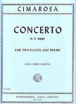Cimarosa, Domenico - Concerto in G major for two flutes & piano (IMC)