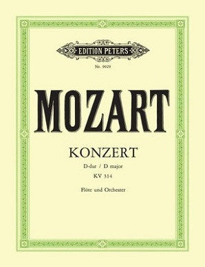 Mozart, WA - Flute Concerto No. 2 In D, With Cadenzas K. 314 (Peters)