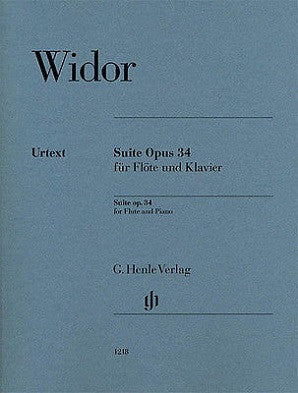 Widor Suite Op. 34 for Flute and Piano (Henle)