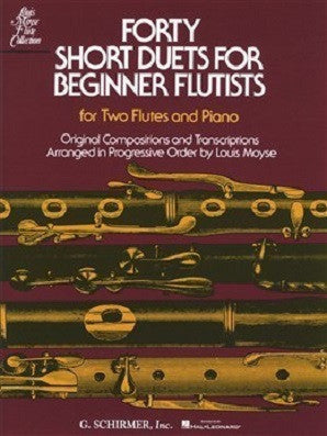 Moyse, Louis : Forty Short Duets For Beginner Flutists