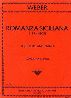 Weber, C, M - Romanza Siciliana for flute and piano (IMC)