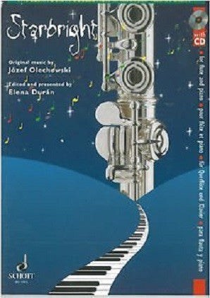 Olechowski - Starbright for flute and piano with CD (Schott)