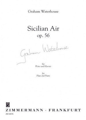Waterhouse - Sicilian air op 56 for flute and piano