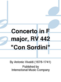 Vivaldi - Concerto in F Major RV442 con sordini (IMC)